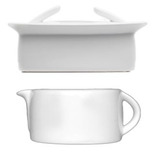 Butter Dish and Gravy Sauce Boat 3-piece Set