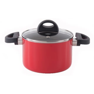 Eclipse 6.25-inch Red Covered Casserole Dish