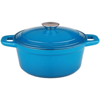 Neo 3-quart Blue Cast Iron Covered Dutch Oven