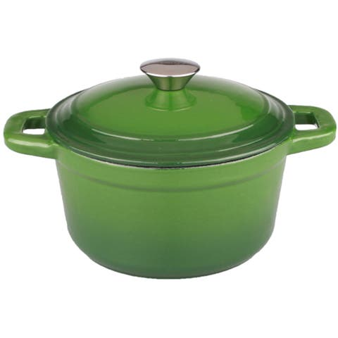 Neo 3-quart Green Cast Iron Round Covered Dutch Oven