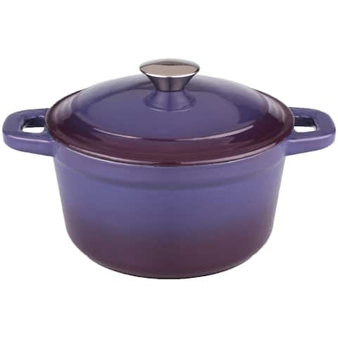 Neo 3-quart Purple Cast Iron Round Covered Dutch Oven