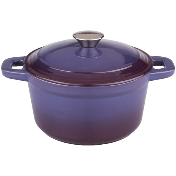 Neo 3-quart Purple Cast Iron Round Covered Dutch Oven. Opens flyout.