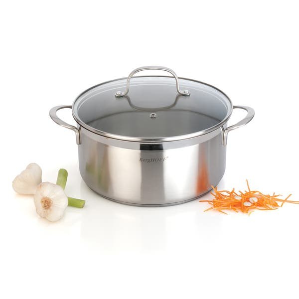 Bistro 9 5 Inch 4 8 Quart Covered Stockpot Overstock 10594162
