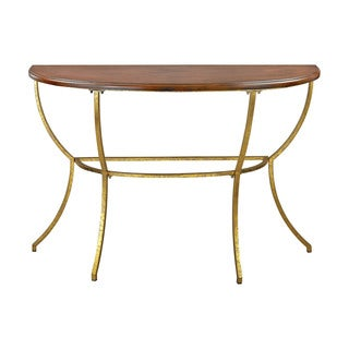 Sterling Balart Walnut and Gold Console