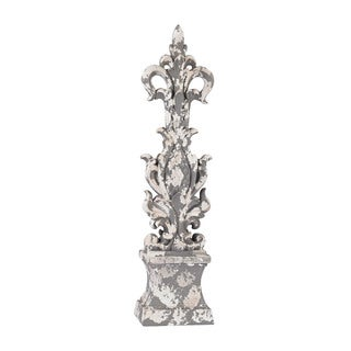 Sterling Aged Plaster Scroll Finial