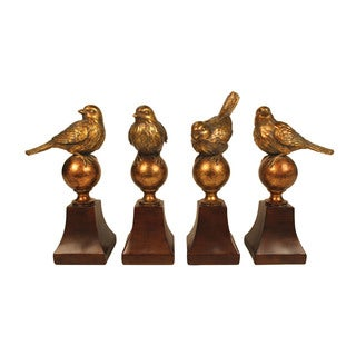 Sterling Audobon Finials (Set of 4)