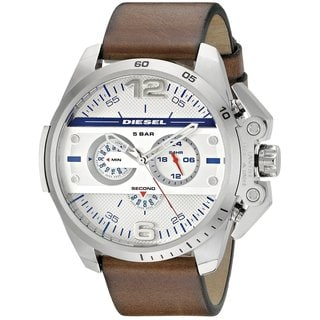 Diesel Men's DZ4365 'Ironside' Chronograph Brown Leather Watch