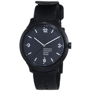 Mondaine Men's MH1B1221NB 'Helvetica No. 1 Bold' Black Nylon Watch