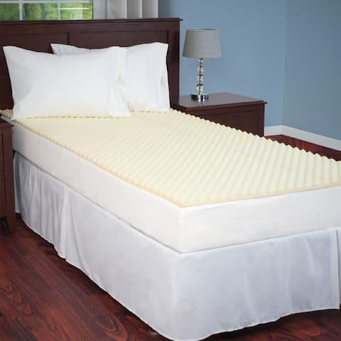 Windsor Home Twin XL-Size Ventilated Foam Mattress Topper