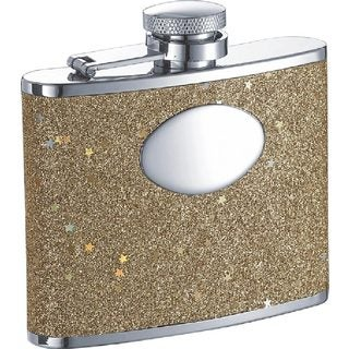 Visol Supernova Gold Glitter Liquor Flask - 4 ounces