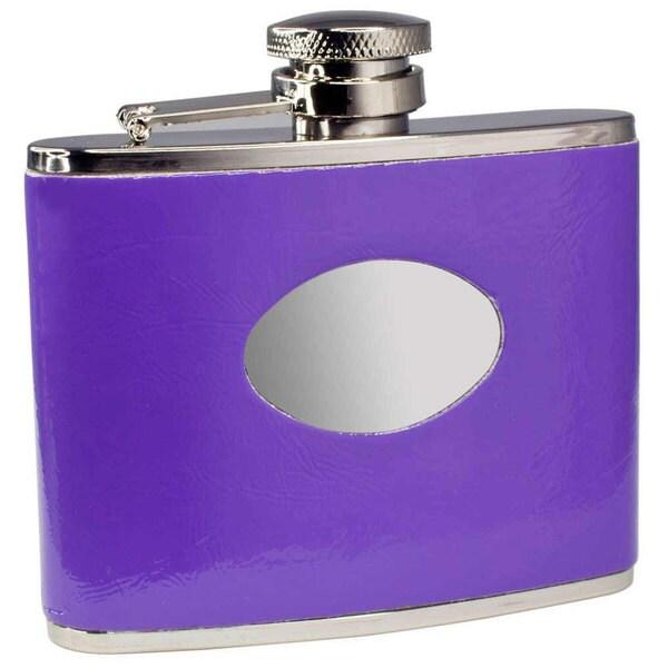 Visol Orchid Purple Liquor Flask - 4 ounces