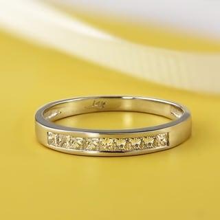 Auriya 14k Gold 1/5ct TDW Princess-Cut Diamond Channel Wedding Band (H-I, SI1-SI2)