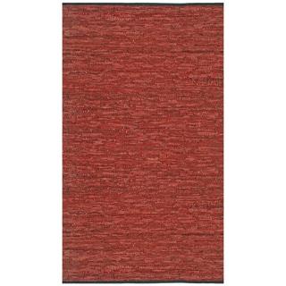 "Copper Matador Leather Chindi (30""x50"") Rug"