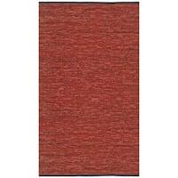 Copper Matador Leather Chindi Rug - 3' x 4'