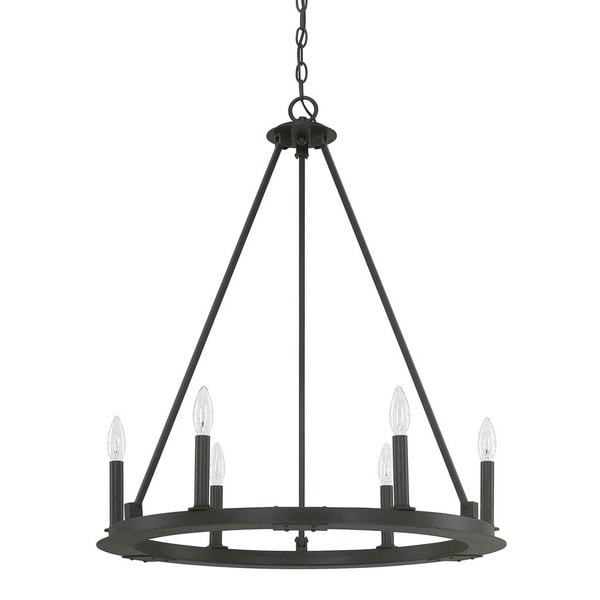 Capital Lighting Pearson Collection 6light Black Iron Chandelier