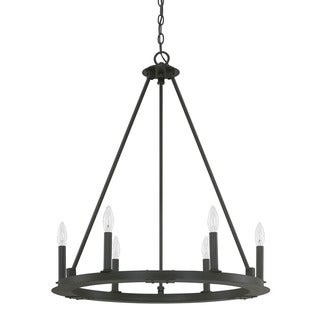 Capital Lighting Pearson Collection 6-light Black Iron Chandelier