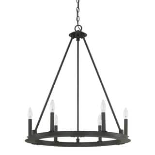 Buy capital lighting chandeliers online at overstock our best capital lighting pearson collection 6 light black iron chandelier aloadofball Images