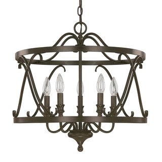 Capital Lighting Abbey Collection 5-light Russet Foyer Fixture