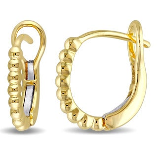 Miadora 14k Yellow Gold Hoop Earrings