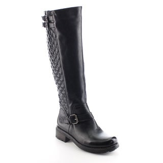 DAVICCINO Women's Quilted Zip Knee High Riding Boots
