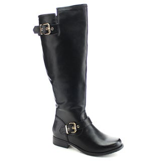 DAVICCINO Women's Side Zip Knee High Riding Boots