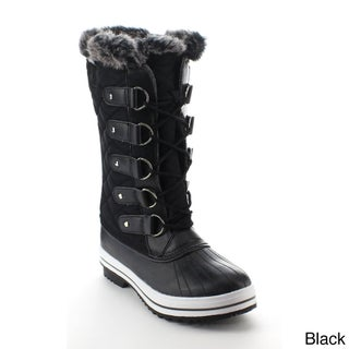 DAVICCINO AA48 Women's Lace Up Waterproof Quilted Mid-calf Weather Snow Boots (More options available)