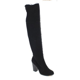 Da Viccino CA03 Women's Lace Up Chunky Heel Over Knee High Boots