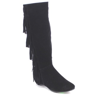 DA VICCINO CA05 Women's 6-layer Fringe Knee High Boots