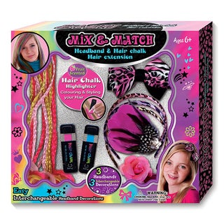 Hot Focus Hair Accessory and Hair Chalk Jumbo Set