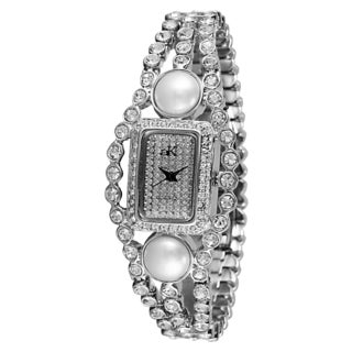 "Adee Kaye LadiesAK9-70L/CR ""Fame Collection"" Timepiece-Silver tone"