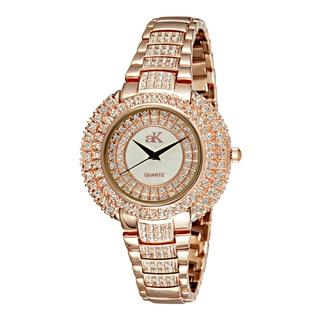 "Adee Kaye Ladies AK9-30LRG/CR ""Majesty Collection"" Timepiece-Gold tone"