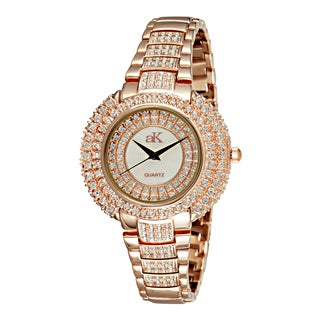 "Adee Kaye Ladies AK9-30LRG/CR ""Majesty Collection"" Timepiece-Gold tone"