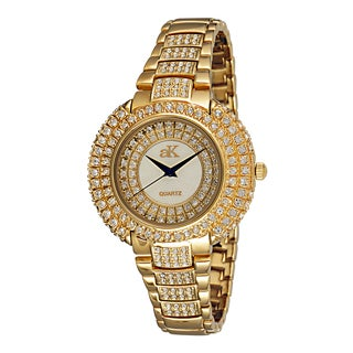 "Adee Kaye Ladies AK9-30LG/CR ""Majesty Collection"" Timepiece-Gold tone"