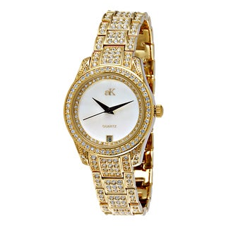 "Adee Kaye Ladies AK9-12LG-C ""Royal Collection"" Timepiece-Gold tone"