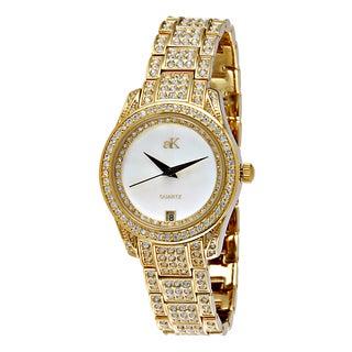"""Adee Kaye Ladies AK9-12LG-C """"Royal Collection"""" Timepiece-Gold tone"""
