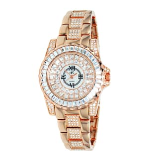 "Adee Kaye Ladies AK9-11lLRG/CR ""Royal Collection"" Timepiece-Gold tone