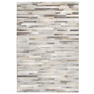 Hand-stitched Grey Cow Hide Leather Rug (5' x 8')|https://ak1.ostkcdn.com/images/products/10594703/P17668240.jpg?impolicy=medium