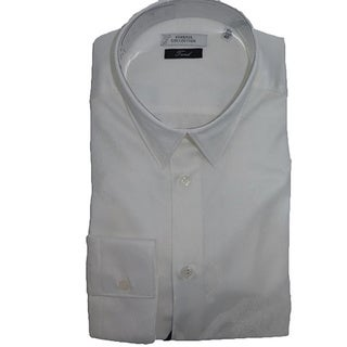 Versace Collection White Floral Classic Dress Shirt