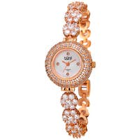Burgi Women's Quartz Diamond Bracelet Watchch