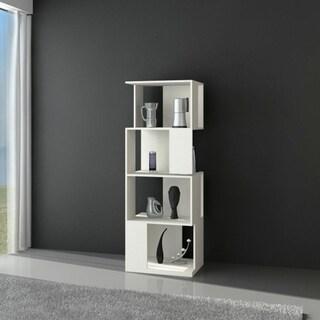 4-tiered Modern Display Bookcase Storage Cabinet