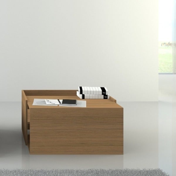 Modern Timber Coffee Table with Storage - Modern Timber Coffee Table With Storage - Free Shipping Today