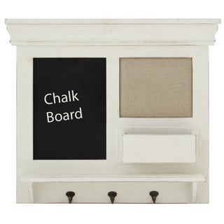 Wood/ Metal Blackboard Wall Storage Shelf