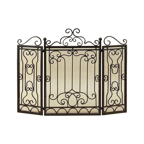 Bronze Three Panel Fireplace Screen Free Shipping Today