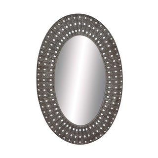 Uttermost kayenta antiqued silver champagne leaf framed for Silver framed mirrors on sale