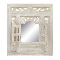 Maison Rouge Lamartine Distressed Whitewash Mirror