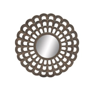 Round Wall Mirror Fretwork Design