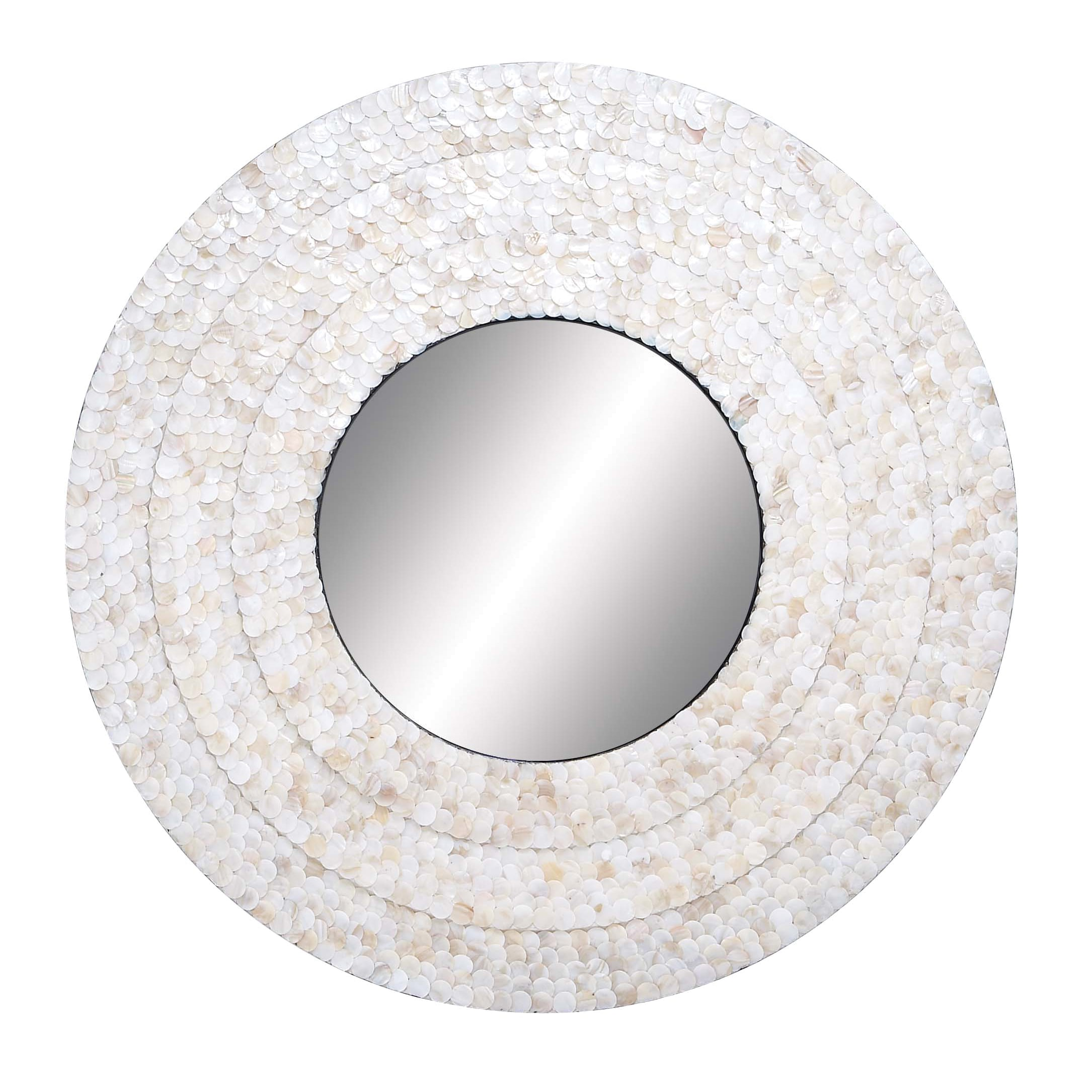 Mother Of Pearl 32 Round Mirror