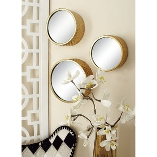 Strick & Bolton Buri Round Gold Wall Mirrors (Set of 7)