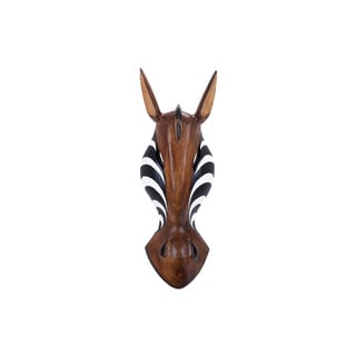 Decorative Wood Zebra Mask