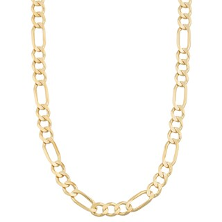 Fremada 14k Yellow Gold 5-mm High Polish Solid Figaro Link Chain Necklace (18 - 30 inches)